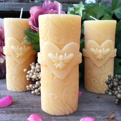 Queen Bee Beeswax Candles for Love & Valentines Day