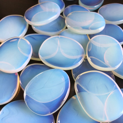 Opalite Palm Stones Medallions for Meditation, Peace & Blessings