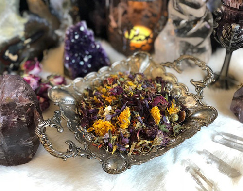 Litha Sacred Smudge & Bonfire Casting Herbs