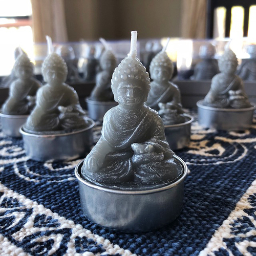 Buddha Candles for Meditation & Enlightenment - Set of 6 Tealights