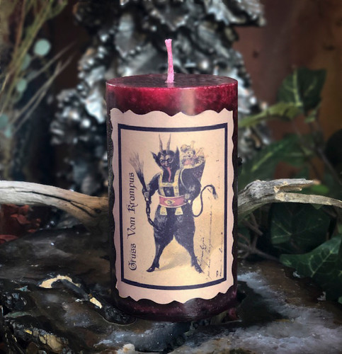 Krampus Holiday Yule Candles Gruss Vom Krampus (Greetings from Krampus) for Naughty Little People