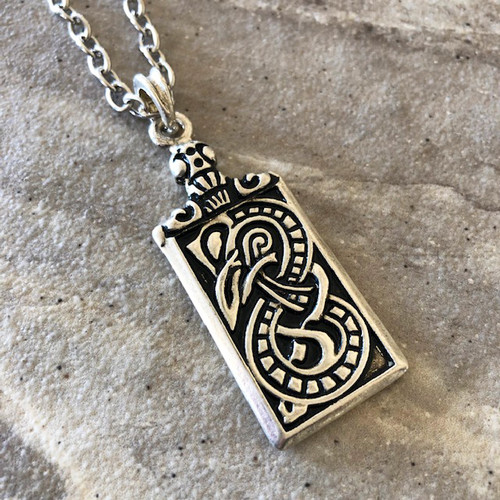 Kelten Shield Amulet Pendant Necklace in 925 Silver
