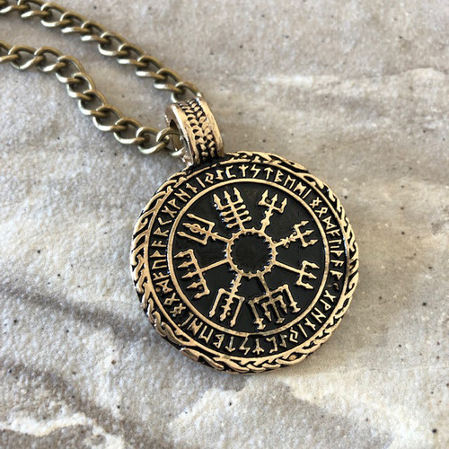 Vegvísir Norse Viking Protection Amulet Pendant Necklace