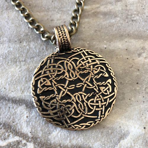 Celtic Shield Protection Amulet Pendant Necklace