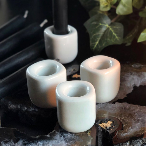 Porcelain Candle Holders Glass Ceramic 1/2 inch