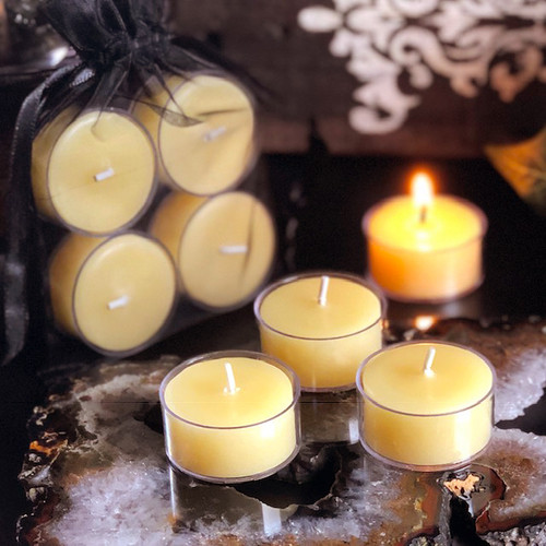 BEESWAX TEALIGHT CANDLES in Plastic Cups