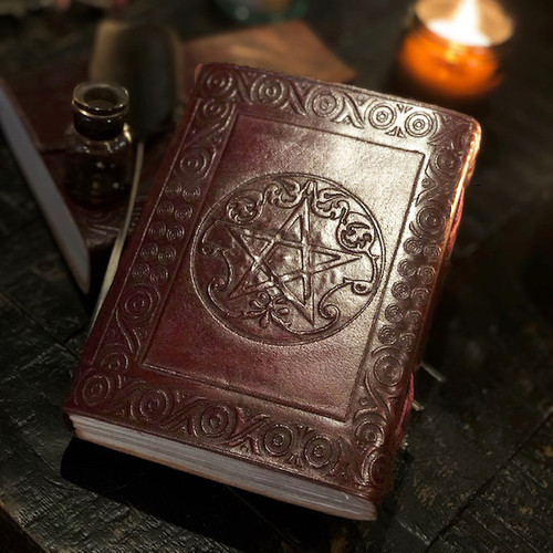 PENTACLE LEATHER JOURNAL Poetic Earth Wiccan Books