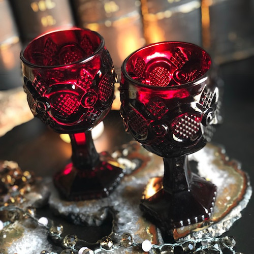 Avon Red Wine Glasses