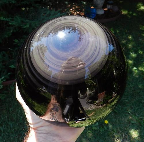 Rainbow Obsidian Spheres