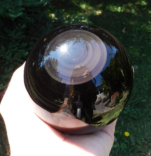 Black Rainbow Obsidian Spheres