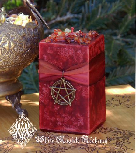 Haunted Halloween Samhain Candles Pentacle