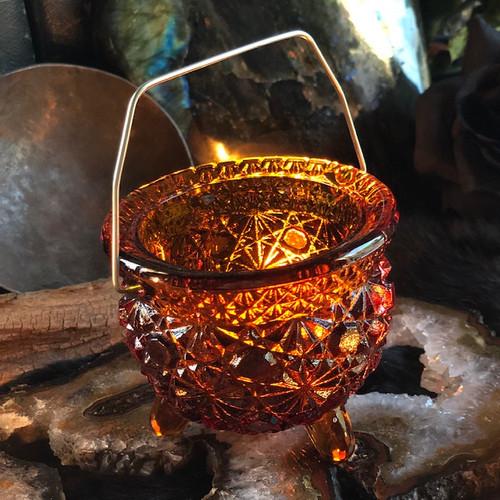 Glass Daisy Cauldron