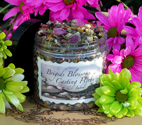 Brigids Blossoms Alchemy Casting Herbs & Incense for Imbolc & Festival of Lights