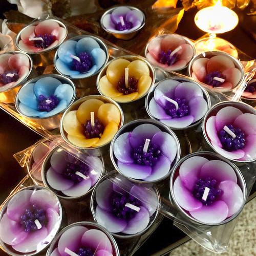 Plumeria Tea Light Candles