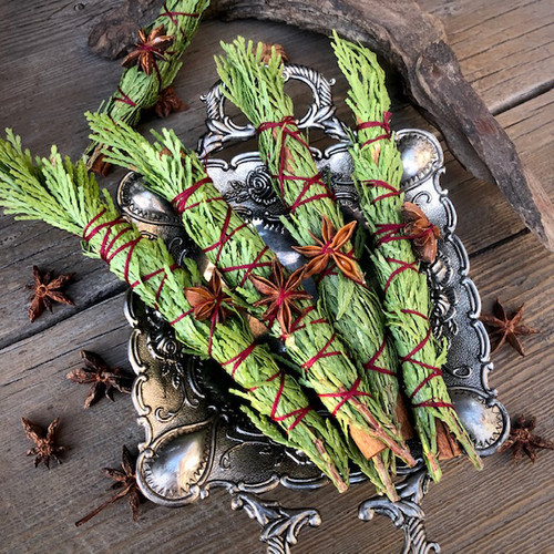 Yule Log Smudge Wands