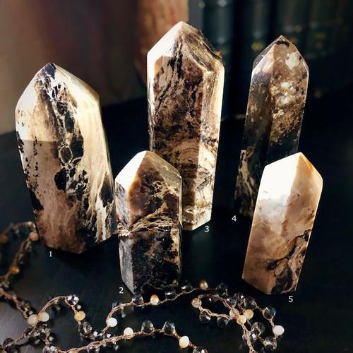 Chocolate Calcite Gemstone Points