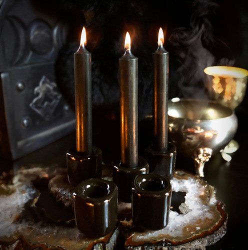 Black Chime Candle Holders