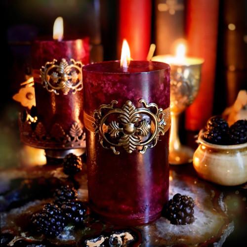 Haute Harvest | Candles for Lughnasadh, Mabon, Blackberry, Boysenberry, Violet, Vanilla & Black Amber Plum