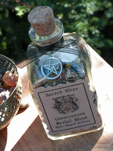 Crystal Consecration Herbal Pouch for Consecrating and Enhancing Magickal Energy to your Crystals, Jewelry and More