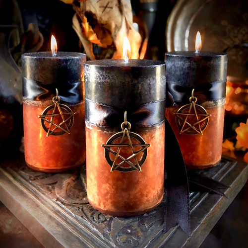 Pumpkin Candles Halloween Samhain