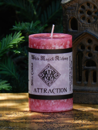 ATTRACTION Spell Candle . Enchanted Witchery, Love, Lust, Bewitchment Workings