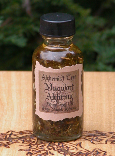 "Mugwort Alchemy ""Alchemist Tree"" Ritual Spell Oil . Psychic Powers, Astral Travel, Protection, Strength, Prophetic Dreams, Healing, Fertility, Peace"