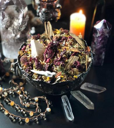 New Beltane Sacred Smudge & Bonfire Casting Herbs