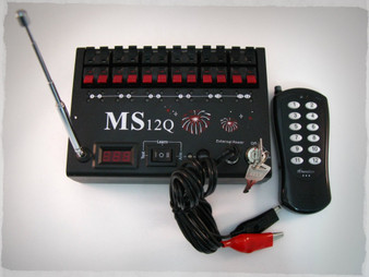 Included is the MS12Q firing system, keys, external battery jumper, and a 100m manual OOK transmitter.