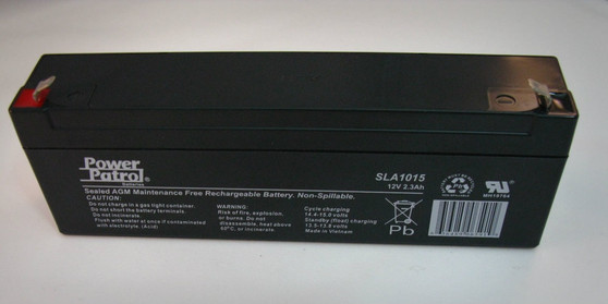 12 volt 2.3ah sealed lead acid rechargeable battery. The battery can power a firing system externally and is the internal replacement battery for the SparkFire and S32 series of firing systems.