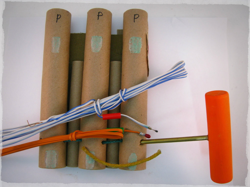 Pyro Poke for Shrouded Ematch Non Sparking Fireworks Saftey Brass Awl