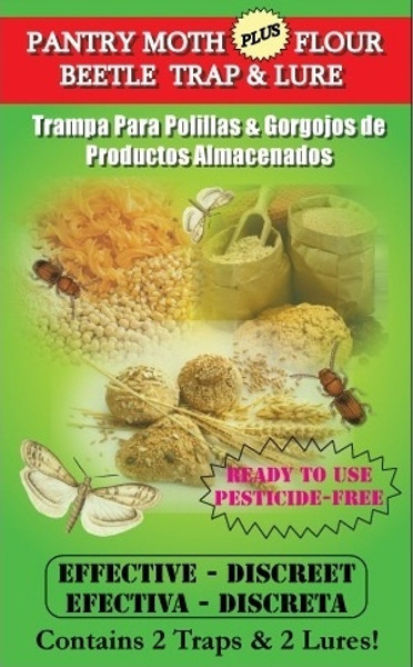 VivaTrap! Pantry Moth and Flour Beetle Trap & Lure (2 Pack)