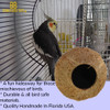 The 1683 Coco Home from Bonka Bird Toys is a wonderful little natural home for your chirping companion! The top of the bird toy has a quick link connecto.