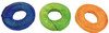 The 3109 pk3 Rawhide Rings are a great addition for any medium to large sized pet bird that loves to play and chew on toys. The rings are each brightly colored.