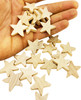 The 3165 25pk Tiny Wood Stars are great foot and beak toys for your perching buddy! The stars are made with wonderful wood and have a great natural color.