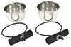 "Advance high quality, high carbon, non-magnetic stainless steel coop cups that are scratch resistant.  Bowls clamp securely to cages, kennels and outdoor pens.  Pack 2 - 5 oz/0.15 L   (2.75"" diameter inside the bowl, 1.5"" high)"