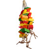 The 3548 Huge Diamond Chew from Bonka Bird Toys is a big and attractive pulling and chewing masterpiece for your large feathered friend! This toy has wood!