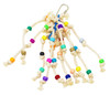 Stringy wingy pure cotton rope with tiny beads for your picking bird, your small bird will tug and nibble on this toy with many textures.