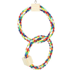 ​Do Pet Birds Like Rainbow Cotton Rope Ring Toys?