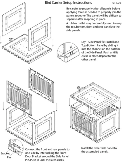 Assembly Instructions Acrylic Carrier