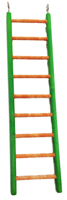 30802 12 inch pedi-ladder, the rough coating on the nine rungs of your bird's pedicure ladder will not only help to keep your bird's nails trim and feet healthy, they make a great surface for a good old beak rub, helping to keep your bird`s beak, trim, sharp and in good condition too.