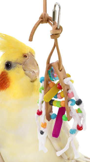 1201 Bonka Bird Toys Mini abacus is what your small feathered friend is counting on.