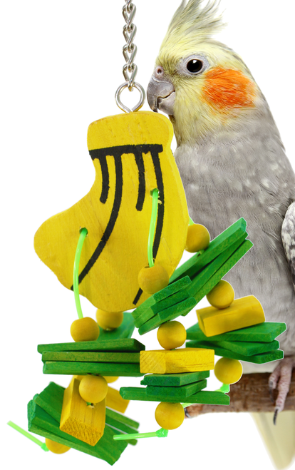 951 Nana chipper is a fun toy to satisfy your small birds' desire to chew.