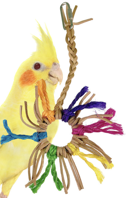 1212 Mini spinney is a colorful and fun toy for those small feathered friends with busy beaks.