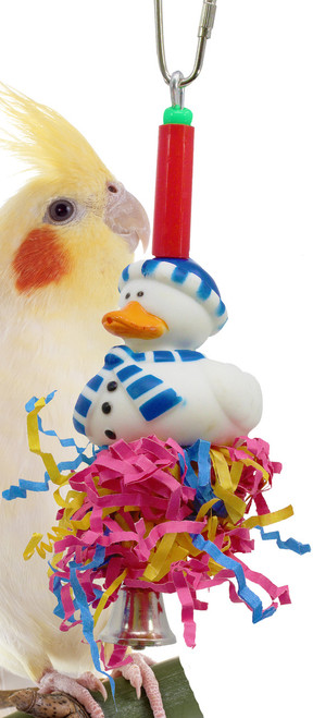 Christmas blue duck is a great holiday addition for your small feathered friend over the holiday season.