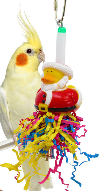 Christmas Santa duck is a great holiday addition for your small feathered friend over the holiday season.