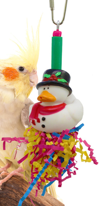Christmas hat duck is a great holiday addition for your small feathered friend over the holiday season.