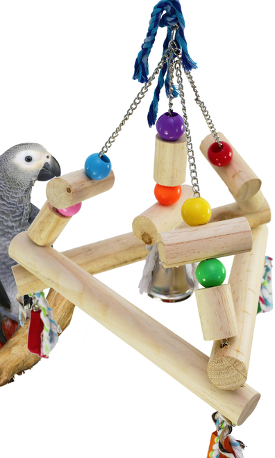1345 Large tri swing is just an all around beauty for your large feathered friends