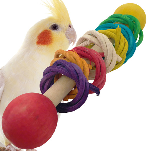 1406  Vine Ring Rattle is a great foot talon toy that packs a playful punch for your small and medium sized feathered friend.