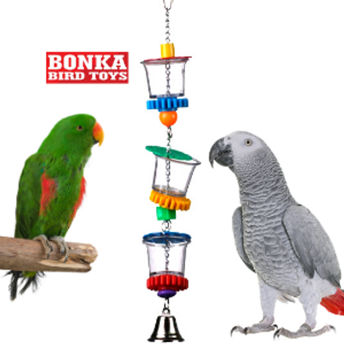 00632 Bottom's Up is the ultimate treat cup for your cherished medium to large-sized feathered friend.