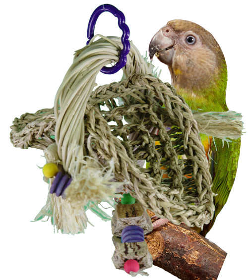 00938 Vine Ring Platform Swing is a great place for your medium-sized feathered friend to hang out.